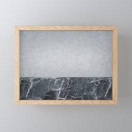 Concretly marble Framed Mini Art Print