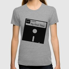 My First Time Retro 80s Floppy Disk T-shirt