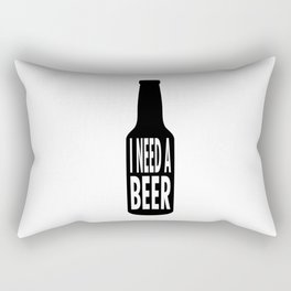 beer lovers alcohol humor humorous funny saying gift idea Rectangular Pillow