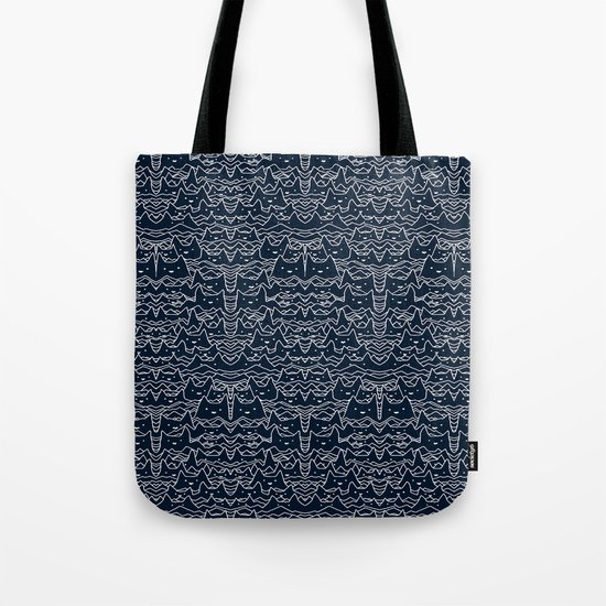 Wave of Cats Tote Bag