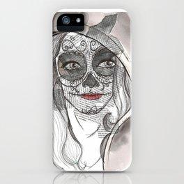 Woman bones iPhone Case