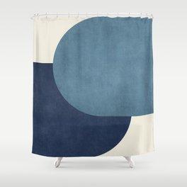 Halfmoon Colorblock - Blue Shower Curtain