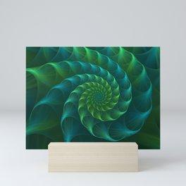 Blue And Green Nautilus Shell Mini Art Print