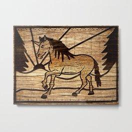 Blocked Unicorn Metal Print
