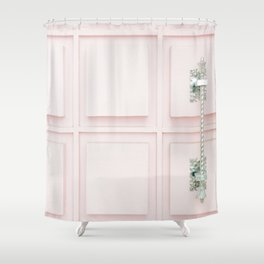 Palm Springs Pink Door Shower Curtain