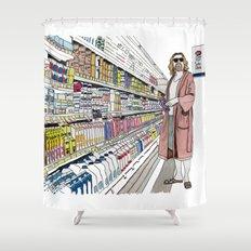 Jeffrey Lebowski and Milk. Shower Curtain