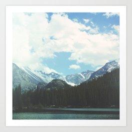Rocky Mountain Lake Art Print