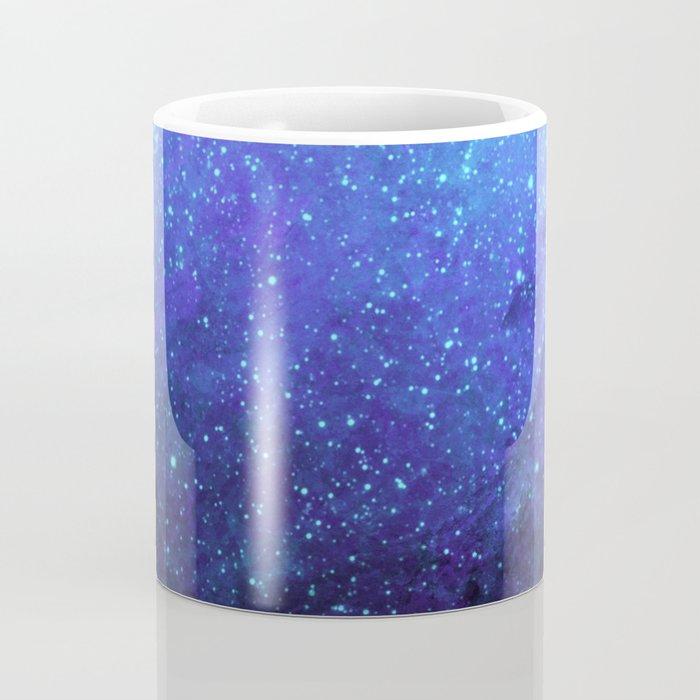 Blue Heavens: Vibrant Starfield Coffee Mug