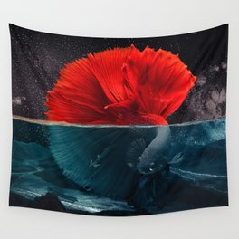 Red Siamese Fighting by GEN Z Wall Tapestry