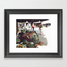 Fruit Market, Hoi An.  Framed Art Print