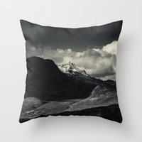 nan lawson Throw Pillows featuring Sgùrr nan Gillean and Loch na Creitheach from Camasunary, Isle of Skye by Ferdinand Bardamu