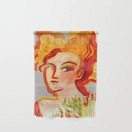 Deep orange yellow hues fashion portrait Wall Hanging