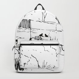 Architecture Handdcrafting Backpack