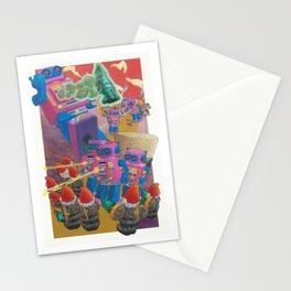 Robot Stumbles Stationery Cards