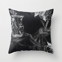 Glass Vases Throw Pillow
