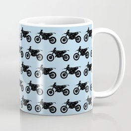 Dirt Bikes // Light Blue Coffee Mug