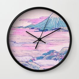Mount Fuji Ukiyo-e Japanese Vintage Art Wall Clock