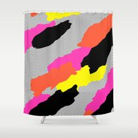bruno mars Shower Curtains featuring Mars by Tyler Spangler