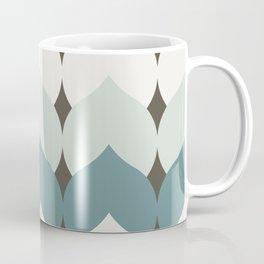 Deco Leaves in Dusty Teal Coffee Mug