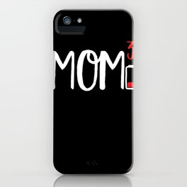 Mom of Three 3 Cubed design Low Battery Gift for Moms iPhone Case