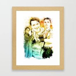 Captain Jack Harkness inspired Mixed Media Watercolor Framed Art Print
