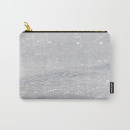 Silver Gray Glitter Sparkle Carry-All Pouch