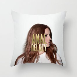 Anal... Del Rey. Throw Pillow
