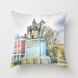 Richmond VA,Stonewall Jackson Monument,Richmond Virginia Throw Pillow