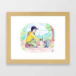 Journey to be the very best! Framed Art Print
