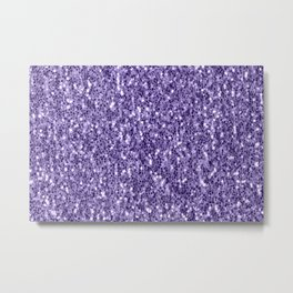 Ultra violet purple glitter sparkles Metal Print