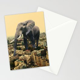 Urban Animal Elephant Stationery Cards