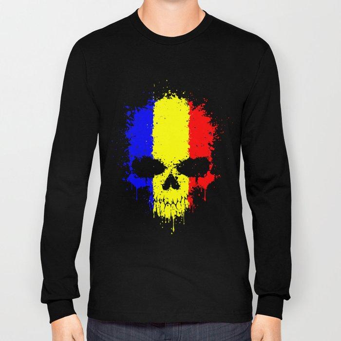 Romanian skull Long Sleeve T-shirt