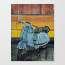 Blue Lambretta Canvas Print