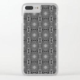 Zebra Illusions Pattern Clear iPhone Case