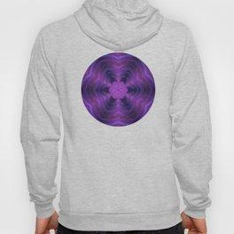 Layered Purple Flower Pattern Hoody