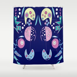 Trusting Intuition geometric design Shower Curtain