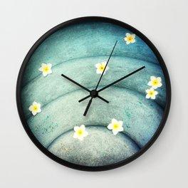 Pool Lilies  Wall Clock