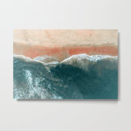 Tropical Drone Beach Photography Metal Print