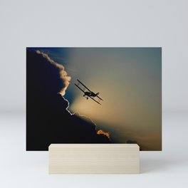 Double Decker Propeller Plane Mini Art Print