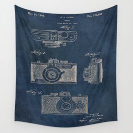 Cazin Camera patent art Wall Tapestry