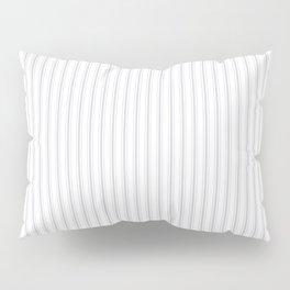 Soft Grey Mattress Ticking Narrow Striped Pattern - Fall Fashion 2018 Pillow Sham
