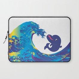 Hokusai Rainbow & Babydolphin Laptop Sleeve