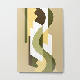 SUISSE - Art Deco Modern: LATE AUTUMN Metal Print
