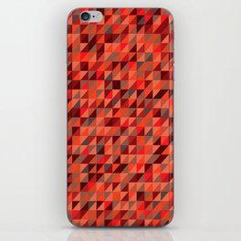Quilted Reds / Retro Triangles iPhone Skin