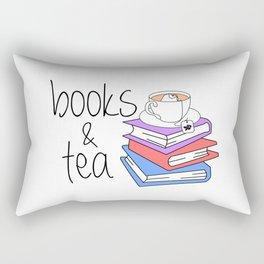 Books and Tea Bookworm Rectangular Pillow