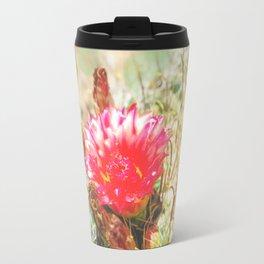 Iridescent Cactus Flower Travel Mug