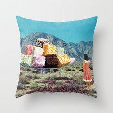 Desert Dessert Throw Pillow