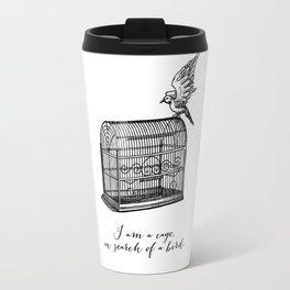 Franz Kafka - I am a Cage in Search of a Bird Travel Mug