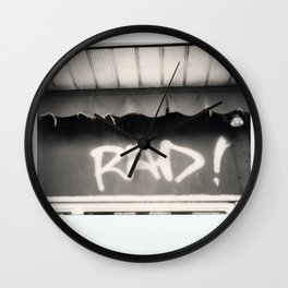 Rad Spectra B&W Wall Clock