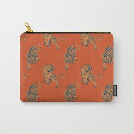 red tiger print Carry-All Pouch